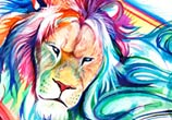 Lion marker drawing by Katy Lipscomb Art