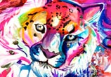 Magic Leopard marker drawing by Katy Lipscomb Art