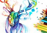 Phantom color drawing by Katy Lipscomb Art