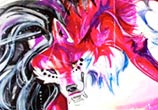Rawr pen drawing by Katy Lipscomb Art