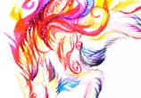 Shiranui color drawing by Katy Lipscomb Art