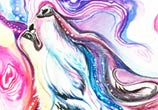 Spirit wolf color drawing by Katy Lipscomb Art