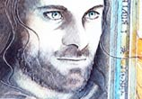 Aragorn watercolor painting by Kinko White