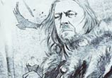 Eddard Stark watercolor painting by Kinko White