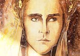 Elven king watercolor painting by Kinko White