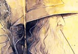 Gandalf watercolor painting by Kinko White