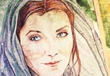 Lady Catelyn watercolor painting by Kinko White