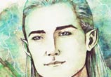 Legolas watercolor painting by Kinko White