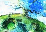 Oak tree watercolor painting by Kinko White