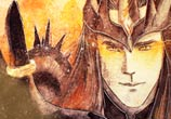 Sauron King of the Mordor watercolor painting by Kinko White