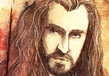 Thorin from Hobbit watercolor painting by Kinko White