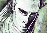 Thranduil watercolor painting by Kinko White