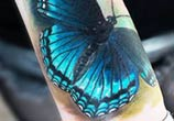 Butterfly tattoo by Led Coult