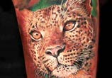 Leopard tattoo by Led Coult