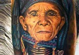 Padaung woman tattoo by Led Coult