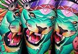 Blue Tiger tattoo by Lehel Nyeste