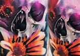 Flower Skull tattoo by Lehel Nyeste