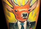 Gentle deer tattoo by Lehel Nyeste