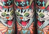 King Cat tattoo by Lehel Nyeste