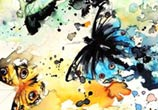 Butterfly atercolor painting by Louise Terrier
