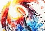 Swan watercolor by Louise Terrier