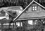 Farm house marker drawing by Lukas Lukero Art