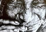 Old woman drawing by Lukas Lukero Art