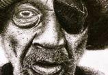 One eyed man drawing by Lukas Lukero Art
