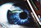 Eye drawing by Miriam Galassi
