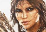 Lara Croft Tomb Raider game drawing by Miriam Galassi