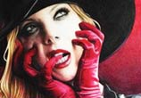 Maria Brink portrait drawing by Mriam Galassi