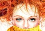 Portrait Fall girl, drawing by Morgan Davidson