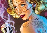 Lady Gaga illustrations color drawing by Morgan Davidson