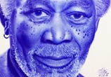 Morgan Freeman pen drawing by Mostafa Mosad Khodeir