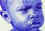 Water on baby face pen drawing by Mostafa Mosad Khodeir