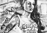Inked Girl street art by Mr Shiz