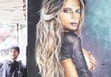 Sexi woman streetart by Mr. Shiz