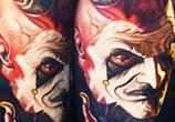 Devil scarnival tattoo by Nikko Hurtado