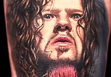 Dimebag Darrell tattoo portrait by Nikkoo Hurtado
