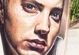 Eminem tattoo portrait by Nikko Hurtado