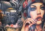 Front tattoo tattoo by Nikko Hurtado
