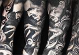Horror Sleeve tattoo tattoo by Nikko Hurtado