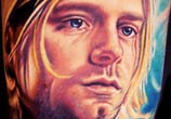 Kurt Cobain tattoo portrait by Nikko Hurtado