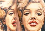 Marilyn Monroe tattoo portrait by Nikko Hurtado