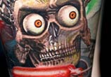Mars attack Alien tattoo by Nikko Hurtado