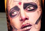 Colors Muerte tattoo by Nikko Hurtado