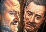 Robin Williams and Robert De Niro by Nikko Hurtado