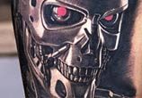 Terminator tattoo portrait by Nikko Hurtado