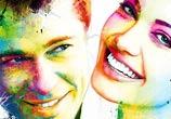 Brad and Angelina mixedmedia by Patrice Murciano