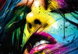 Caliente painting, mixed media by Patrice Murciano